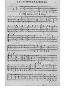Obras de música para tecla, arpa y vihuela: Teil III by Antonio de Cabezón