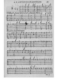 Obras de música para tecla, arpa y vihuela: Movement VII by Antonio de Cabezón