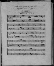 Acht Suitensammlungen für Sackpfeife und Basso Continuo: Nr.3-4 by Nicolas Chédeville
