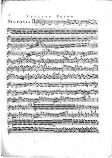 Sinfonie Nr.1 in D-Dur, G.503 Op.12: Violinstimme I by Luigi Boccherini