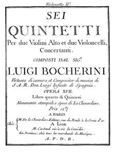 Sechs Quintette für Streicher, G.283-288 Op.18: Cellostimmen II by Luigi Boccherini