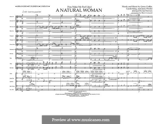 (You Make Me Feel Like) A Natural Woman (Aretha Franklin): Vollpartitur by Carole King, Gerry Goffin, Jerry Wexler