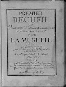 Acht Suitensammlungen für Sackpfeife und Basso Continuo: Nr.1-2 by Nicolas Chédeville