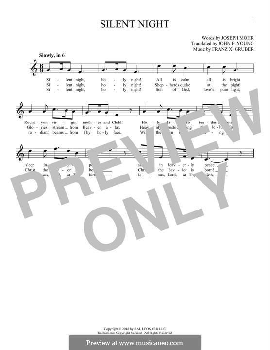 Stille Nacht, heilige Nacht, für Solo Instrument: Für Flöte by Franz Xaver Gruber