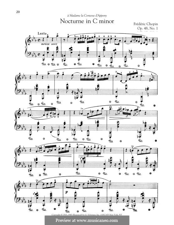 Nocturnen, Op.48: No.1 in C Minor by Frédéric Chopin