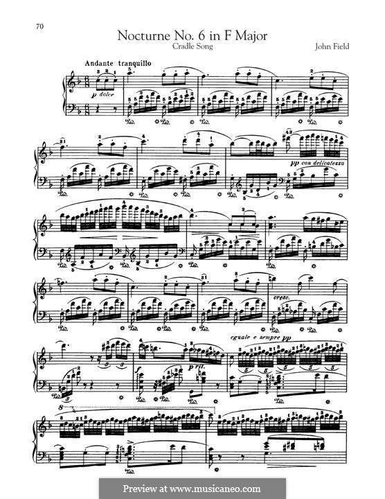 Nocturnes für Klavier: Nocturne No.6 by John Field