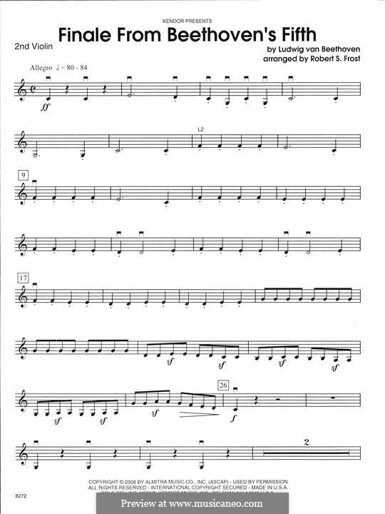 Teil IV: For strings – 2nd Violin part by Ludwig van Beethoven