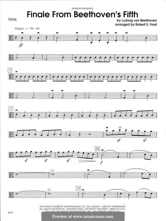 Teil IV: For strings – Viola part by Ludwig van Beethoven