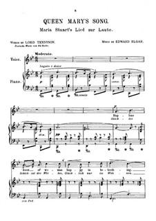 Sieben Lieder: Nr.2 Maria Stuart's Lied zur Laute by Edward Elgar