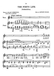 Sieben Lieder: Nr.4 Dichterleben by Edward Elgar