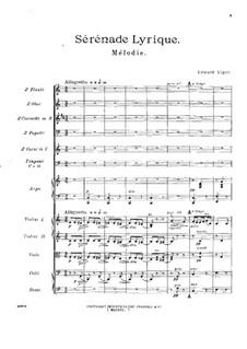 Lyrische Serenade: Vollpartitur by Edward Elgar