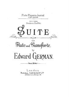 Suite für Flöte und Klavier: Partitur by Edward German