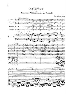 Klavierquintett Nr.1 in d-Moll, Op.35: Vollpartitur by Friedrich Gernsheim
