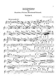 Klavierquintett Nr.1 in d-Moll, Op.35: Stimmen by Friedrich Gernsheim