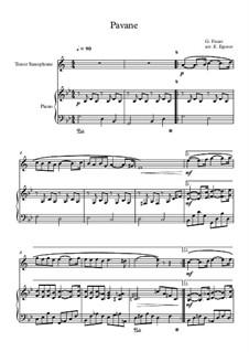 Pavane, Op.50: Für Tenorsaxophon und Klavier by Gabriel Fauré