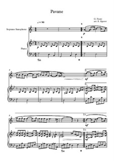 Pavane, Op.50: For soprano saxophone and piano by Gabriel Fauré