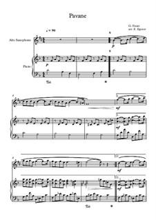 Pavane, Op.50: Für Altsaxsophon und Klavier by Gabriel Fauré