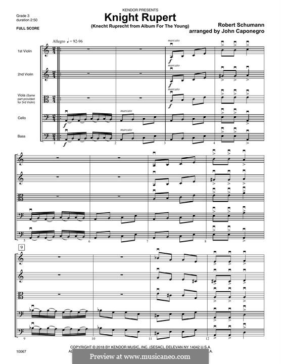 Nr.12 Knecht Ruprech: For strings – Full Score by Robert Schumann