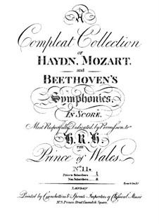 Sinfonie Nr.69 in C-Dur 'Laudon', Hob.I/69: Sinfonie Nr.69 in C-Dur 'Laudon' by Joseph Haydn