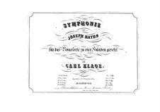 Sinfonie Nr.75 in D-Dur, Hob.I/75: Version für Klavier, vierhändig by Joseph Haydn