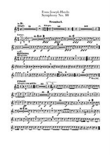 Sinfonie Nr.88 in G-Dur, Hob.I/88: Trompetenstimmen I-II by Joseph Haydn