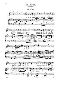 Acht Lieder, Op.5: No.1 Chanson (Oh! Why) by Halfdan Kjerulf