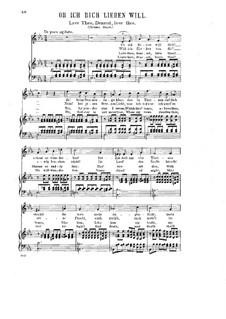 Drei Lieder, Op.26: Nr.3 Ob Ich dich lieben will by Halfdan Kjerulf
