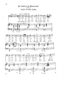 Sechs Lieder, Op.15: Nr.6 Die Nacht in der Meeresbucht by Halfdan Kjerulf