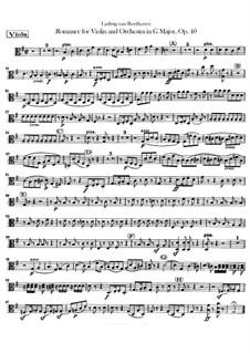 Romanze für Violine und Orchester Nr.1 in G-Dur , Op.40: Bratschenstimme by Ludwig van Beethoven