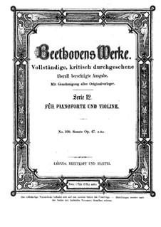Sonate für Violine und Klavier Nr.9 'Kreutzer', Op.47: Partitur by Ludwig van Beethoven