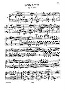 Sonate für Klavier Nr.19, Op.49 No.1: Für einen Interpreten (mit Fingersatz) by Ludwig van Beethoven