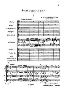 Vollständiger Konzert: Vollpartitur by Ludwig van Beethoven