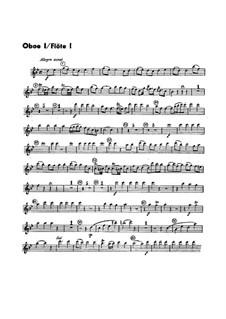 Sinfonie Nr.1 in B-Dur, G.493 Op.21: Oboen- und Flötenstimmen by Luigi Boccherini