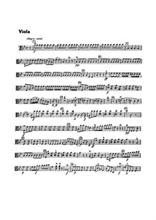 Sinfonie Nr.1 in B-Dur, G.493 Op.21: Violastimme by Luigi Boccherini