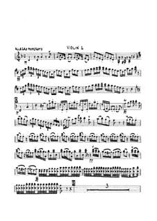 Sinfonie Nr.3 in d-Moll, G.517 Op.37: Violinstimme by Luigi Boccherini