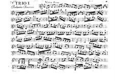 Sechs Streichtrios, Op.6: Violinstimme I, G.89-96 by Luigi Boccherini