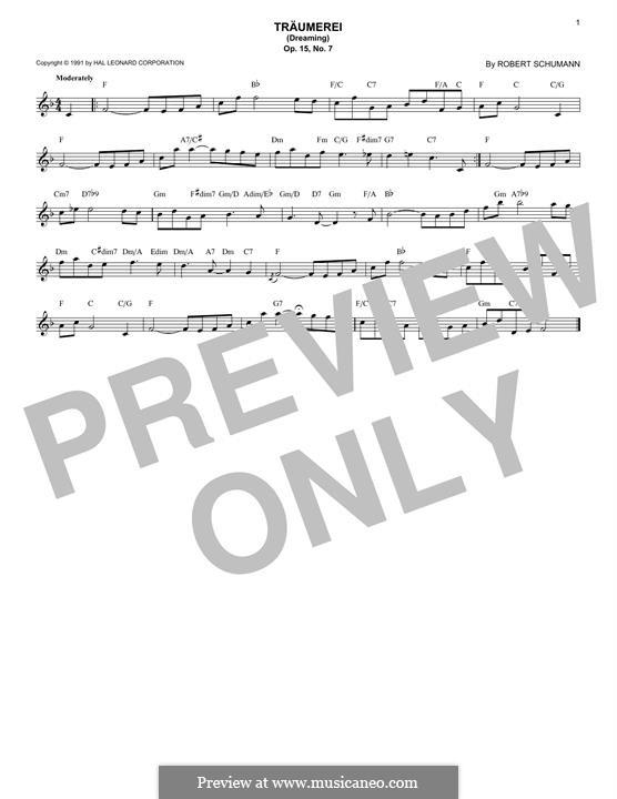 Nr.7 Träumerei: Für Keyboard by Robert Schumann
