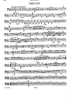 Klaviertrio Nr.24 in Es-Dur, Hob.XV/11: Cellostimme by Joseph Haydn