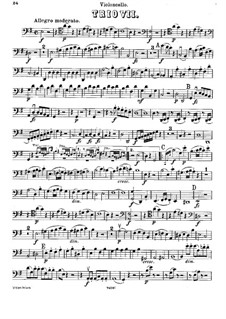 Klaviertrio Nr.7 in e-Moll, Hob.XV/12: Cellostimme by Joseph Haydn
