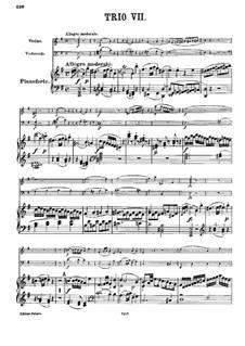 Klaviertrio Nr.7 in e-Moll, Hob.XV/12: Vollpartitur by Joseph Haydn