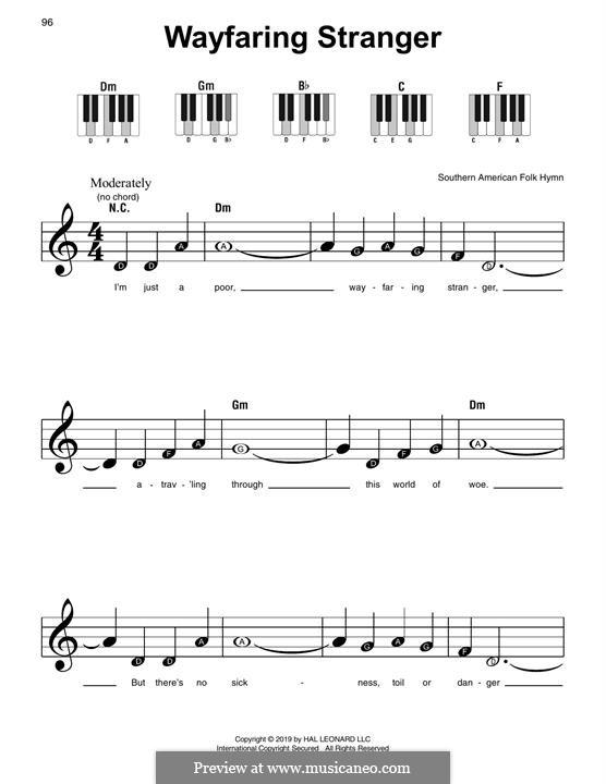 Wayfaring Stranger: Für Klavier by folklore