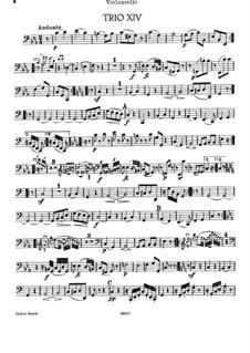 Klaviertrio Nr.26 in c-Moll, Hob.XV/13: Cellostimme by Joseph Haydn