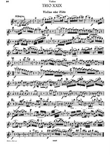 Klaviertrio Nr.30 in F-Dur, Hob.XV/17: Violin- oder Flötenstimme by Joseph Haydn