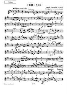 Klaviertrio Nr.32 in A-Dur, Hob.XV/18: Violinstimme by Joseph Haydn