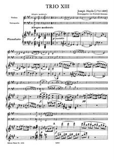 Klaviertrio Nr.32 in A-Dur, Hob.XV/18: Vollpartitur by Joseph Haydn