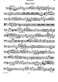 Klaviertrio Nr.33 in g-Moll, Hob.XV/19: Cellostimme by Joseph Haydn