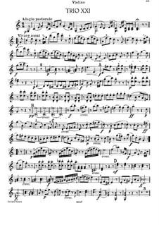 Klaviertrio Nr.35 in C-Dur, Hob.XV/21: Violinstimme by Joseph Haydn