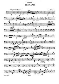 Klaviertrio Nr.36 in Es-Dur, Hob.XV/22: Cellostimme by Joseph Haydn