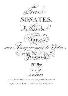 Klaviertrios (Sammlung), Hob.XV: Nr.27-29 by Joseph Haydn