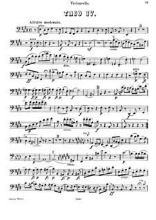 Klaviertrio Nr.44 in E-Dur, Hob.XV/28: Cellostimme by Joseph Haydn